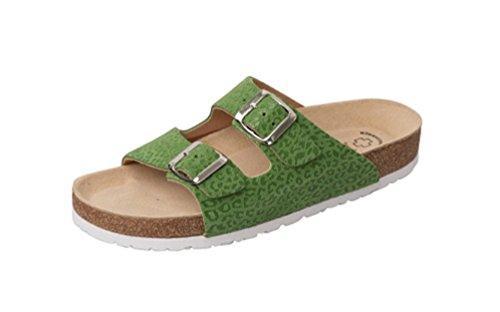 Wörishofener Fußform Bio-Pantolette, Sabot/sandali donna grün leo