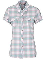 Mountain Warehouse Camisa de algodón Holiday para Mujer - Top de Manga Corta para Mujer, Camisa Informal, Camisa Ligera de Verano para Mujer - para Viajar, Caminar