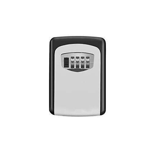 Storage Box 4 Digit Combination Durable Key Storage Lock Box Wall Mounted Safety Key Lock Box Large Storage Capacity,Silver -