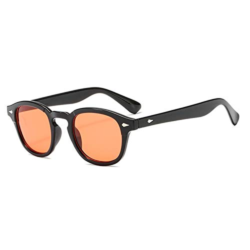 AOCCK Sonnenbrillen,Brillen,Jackjad New Fashion Johnny Depp Lemtosh Style Round Sunglasses Tint Ocean Lens Brand Design Party Show Sun Glasses Oculos De Sol orange lens