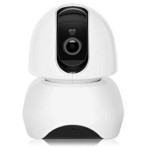 Cámara IP Wifi de vigilancia Interior HD Domo 1080P P2P, Nocturna, Detección de Movimiento, Aplicación para Teléfono Móvil/PC, Sistema Seguridad para Casa/Bebé/Mascota - Topgio