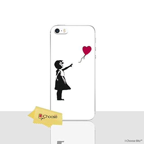 iPhone 5/5s Banksy Silikonhülle / Gel Hülle für Apple iPhone 5s 5 SE / Schirm-Schutz und Tuch / iCHOOSE / Herz (Iphone 5s Fall Lachen)