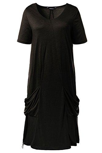 Ulla Popken Kleid Mit Taschendetail, Robe Femme Schwarz (Schwarz 10)