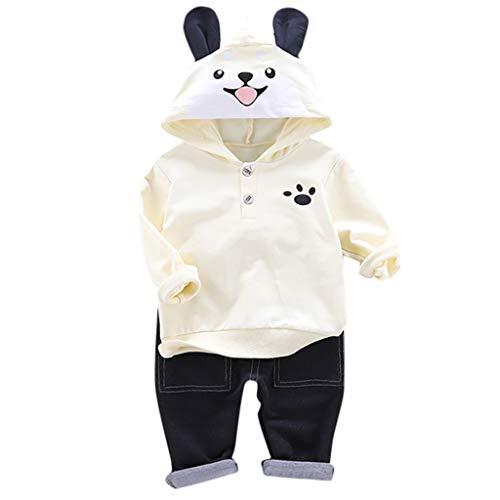 Cuteelf Kinder Oberanzug Jungen mit Kapuze Tier Cartoon Sweatshirt + Hosen Kleidung Junge Kapuze Langarm-Taste Tier Kapuzenpullover Hose zweiteilig -