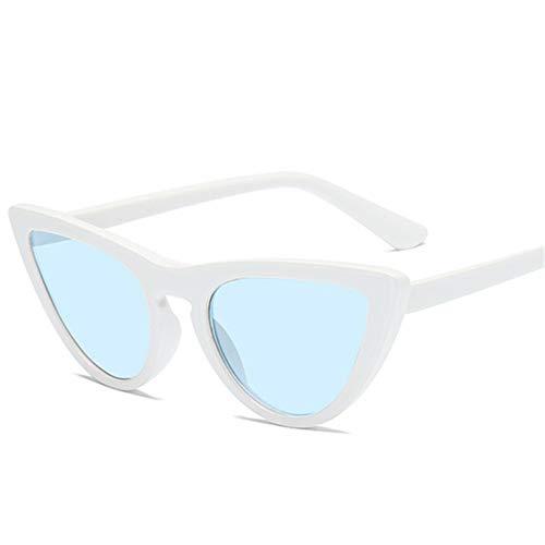 MOJINGYAN Sonnenbrillen,Retro Cat's Eye Männer Frauen Sonnenbrille Catseye Style Sun Slasses Damen Brillen Uv400 Brille Blau