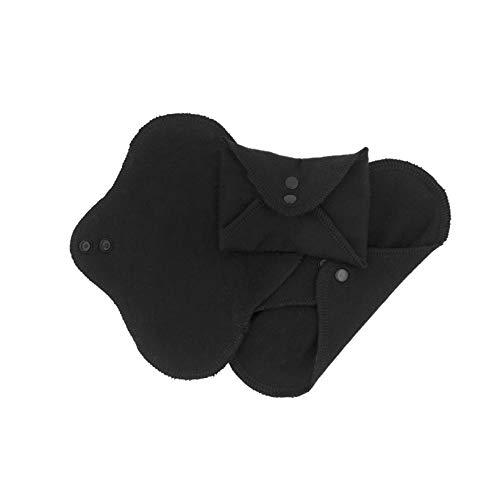 ImseVimse Waschbare Damenbinden Black Schwarz Panty Regular oder Night (Panty (9x20 cm))