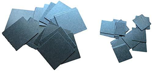 20x Stahl Plättchen Metallstücke Flach 25mm oder 45mm Quadrate - 0.5mm Blech zum Basteln & Haushalt & Werkstatt (20St. 45x45mm)