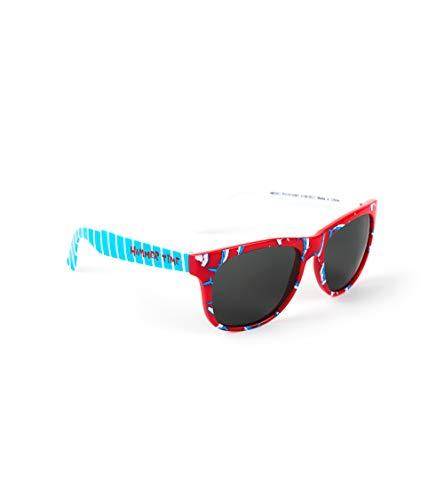 Hatley Jungen Sunglasses Sonnenbrille, Rot (Loop-the-looping Hammerheads), 50