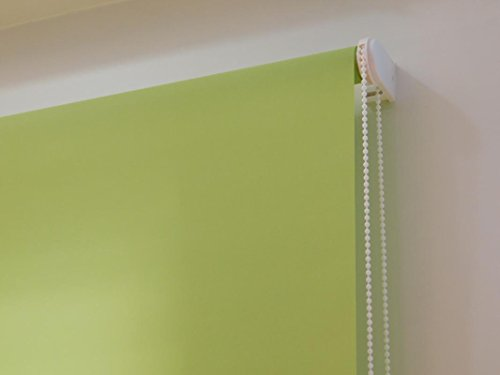 Estor Enrollable a Medida TRASLÚCIDO Basic (no Permite Ver el Exterior, Permite Paso de luz). Color Verde. Medida 100cm x 175cm.