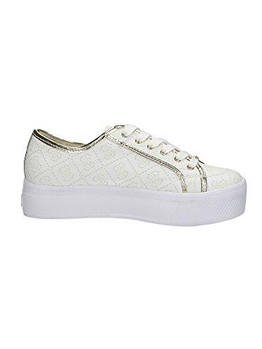 Scarpe Sneakers Donna Guess Mod. PERRI ENGRAVED LOGO SNEAKER FL2PRRFAL12 Col. Rosa o Bianco. White
