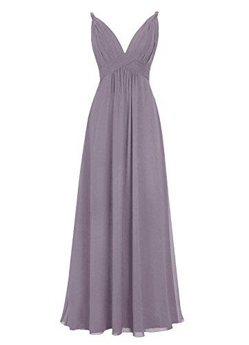 Dresstells, Robe de soirée, robe de cérémonie dos nu, robe longue de demoiselle d'honneur Pourpre