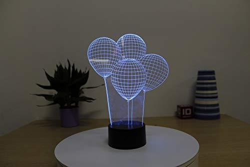 Simple creativo dormitorio lámpara de noche lámpara de globo de dibujos animados regalo de vacaciones 3d multicolor lámpara de mesa de acrílico