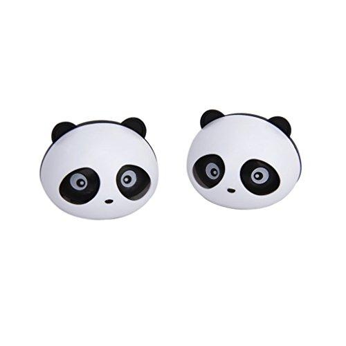 Qilene 2PCS panda Shape Vent clip auto deodorante profumo con clip 6x4.5cm Nero