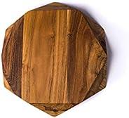 Edge of Belgravia TEAK STAR Tagliere piccolo in legno di teak, 25 x 25 x 4 cm