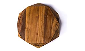 Edge of Belgravia TEAK STAR Tabla de cortar (madera de teca, 35 x 35 x 4 cm)
