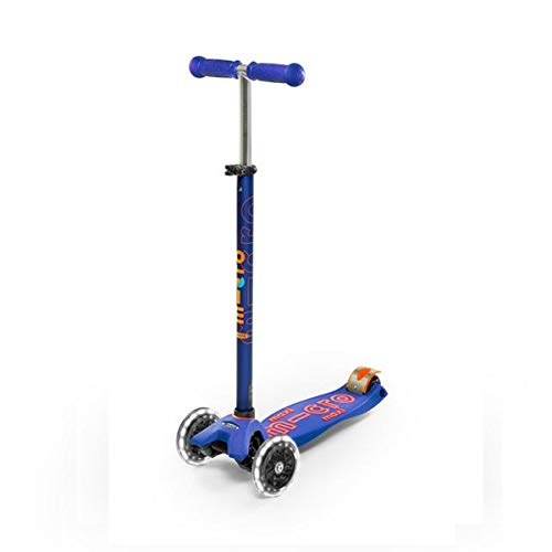 Micro Maxi Step Deluxe Blauw LED (Scooter Micro Räder)