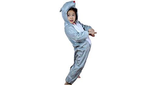 Matissa Bambini Costumi Animali Ragazzi Ragazze Unisex Pigiama Fancy Dress Outfit Cosplay Bambini Onesies (Topo, L (per Bambini 105 - 120 cm di Altezza))