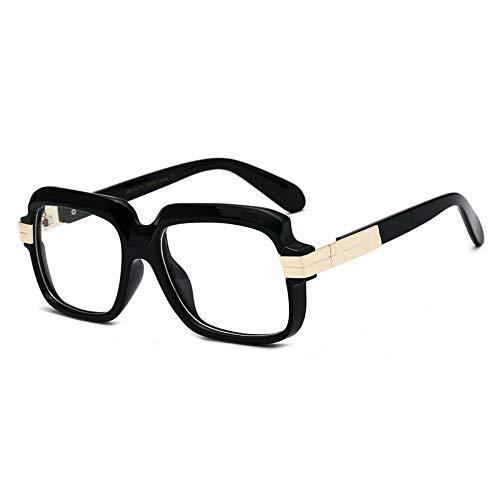 LAMAMAG Sonnenbrille Quadratische Sonnenbrille Männer Paar Dame Promi Flache Heiße Frauen Sonnenbrille Super Star Cool Eyewear, L
