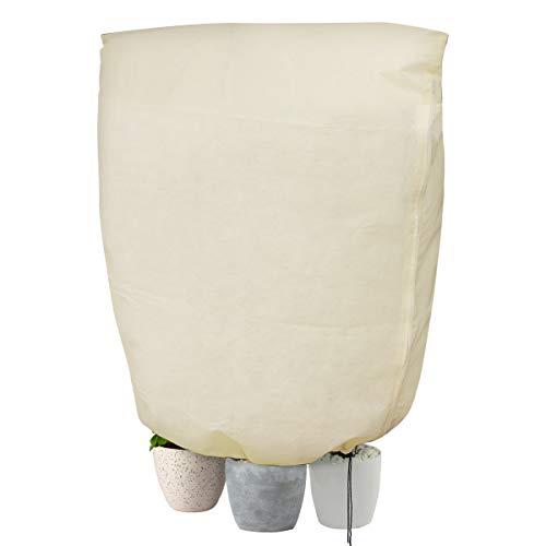 cappuccio protezione piante, copertura per svernamento in tessuto non tessuto 80 g / m² protezione contro gel per piante in vaso e rose (180x120 cm) - 2pc