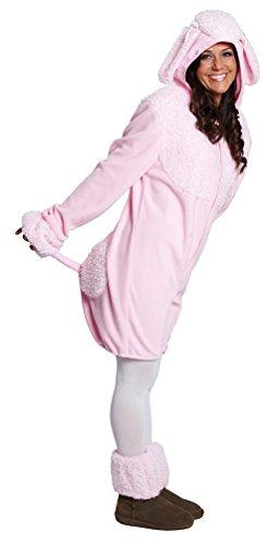 ,Karneval Klamotten' Kostüm Pudel rosa Dame Plüsch Kostüm Karneval Tier Damenkostüm Größe 36/38 (Kinder Kostüme Pudel)