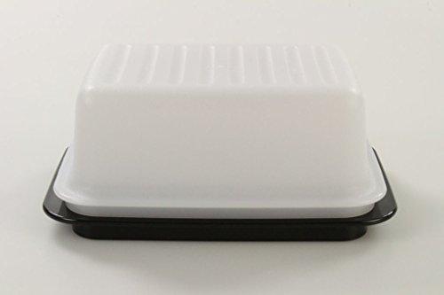 TUPPERWARE Butterdose weiß schwarz Butterschatz Kühlschrank 10054 -