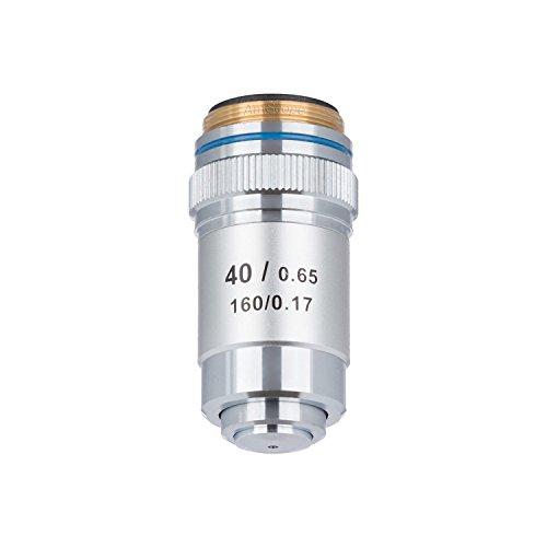 AmScope A40X-V300 Achromatisches Mikroskop-Objektiv für Verbundmikroskope, 40x (Feder)