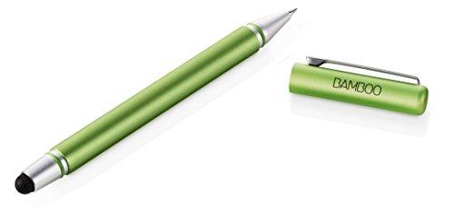 Wacom CS-170E Bamboo Stylus Duo 3. Generation, Touchscreen-Eingabestift für iPad, iPhone, Android Tablets, Smartphones mit austauschbarer Pen Carbonspitze und Kugelschreiber, grün (Stylus-grün)