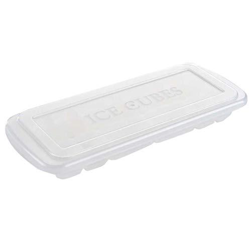 TianranRT❄ Eiswürfelschale,Eiswürfelform Eisherstellung Eisbox Modell Hausgemachte Eiswürfelschale Mehrzweck-Silikon Mit Deckel Küchenbedarf - Eine Hausgemachte Kostüm