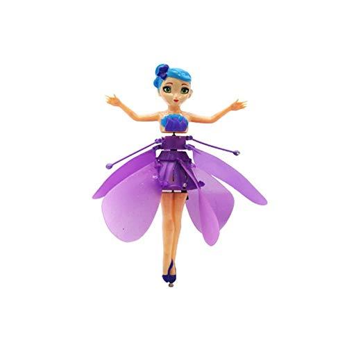 Flying Angel Dolls Spielzeug Infrarot-Induktionssteuerung Flying Dolls Flying Toys Für Kinder Mädchen Kreative Geschenk-Drohne - Lila