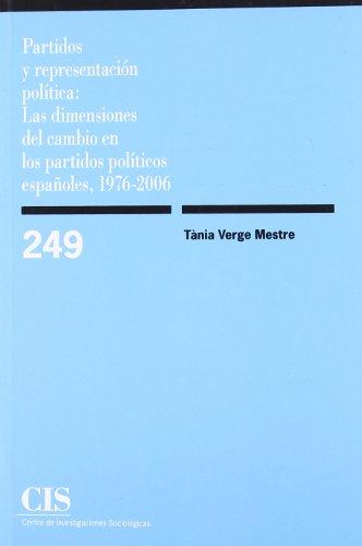 Partidos Y Representaciòn Política (Monografías)