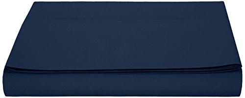 Amazonbasics, lenzuolo in microfibra, 180 x 290 + 10 cm - blu scuro