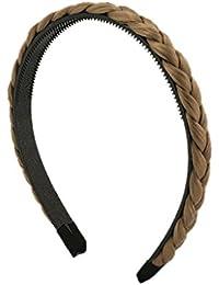 BONAMART ® Elegant Elastisch Haarband Geflochten Braun Blond Stirnband Perücke Damen 24850