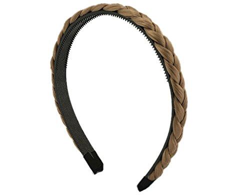 BONAMART 3 x Elegant Elastisch Haarband Geflochten Braun Blond Stirnband Perücke Damen