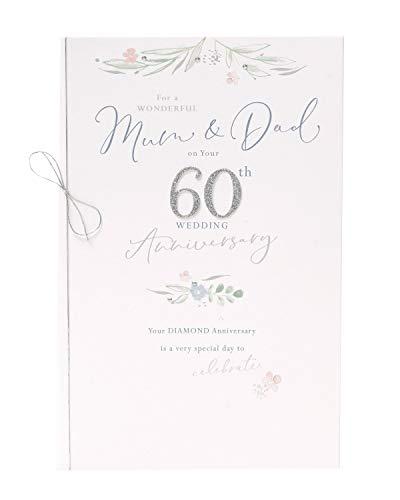 Biglietto per 60° anniversario di mamma e papà, regalo per 60° anniversario di matrimonio, regalo per anniversario di mamma e papà, biglietto di anniversario per 60