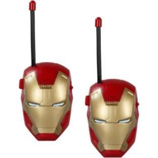 I bambini walkie talkie per i bambini in una selezione di personaggi dei cartoni animati di film bambino senza fili Mini Twin walkie talkie giocattolo (Iron Man)