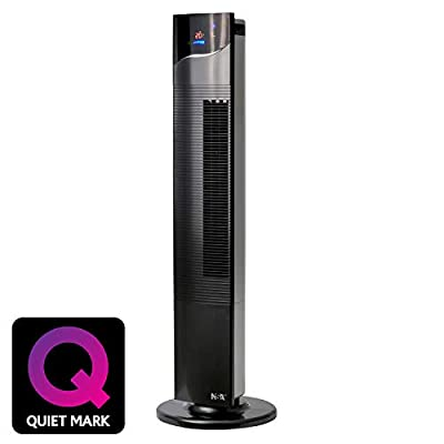 NSAuk TF-21RC Ultimate Column Fan with Quiet Mark Approval, Remote Controlled, Silent Oscillation, 40 W, Gloss Black