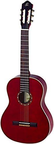 Ortega R121LWR Zurdos Guitarra Clásica (acabado de alto brillo, GIGBAG lujo) burdeos