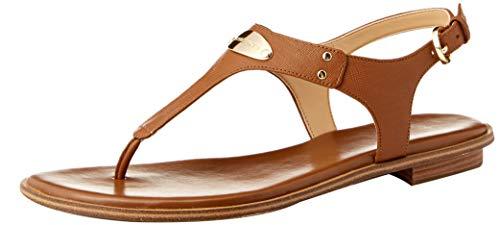 Michael Michael Kors Womens Plate Leather Split Toe Casual T-Strap Sandals - Co Womens Stud