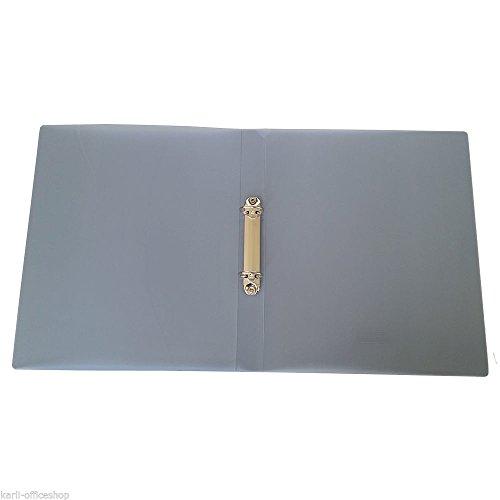 Idena 12 Ringbücher DIN A4 2 Ringe Grau Rückenbreite 30 mm