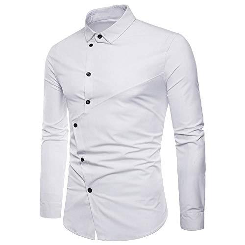 25c39dc7073e98 Styledresser promozione Felpe da Uomo,Pullover Uomo Camicia Irregolare  Casual da Uomo Manica Lunga Slim