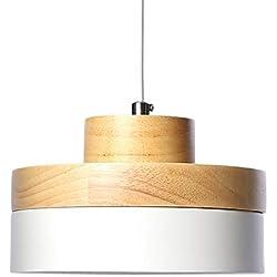 Araña de luces LED de Tomons lámpara de techo blanca estilo moderno escandinavo restaurante