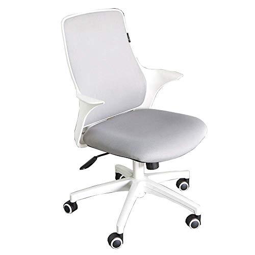 Chaise de Bureau/Chaise d'ordinateur/Chaise étudiante, Design Ergonomique, inclinable à 120 °, Support Lombaire, Hauteur réglable, Coussin en éponge Native (Gris, Noir)