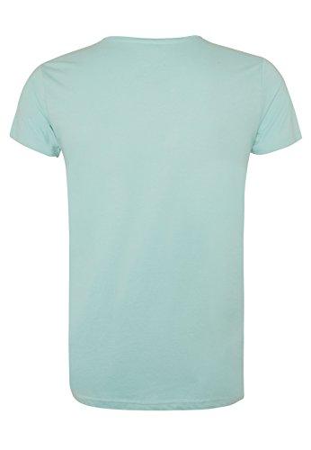 SUBLEVEL Herren Print-Shirt - Surfing | Leichtes Regular Fit T-Shirt mit angesagtem V-Ausschnitt Light-Blue