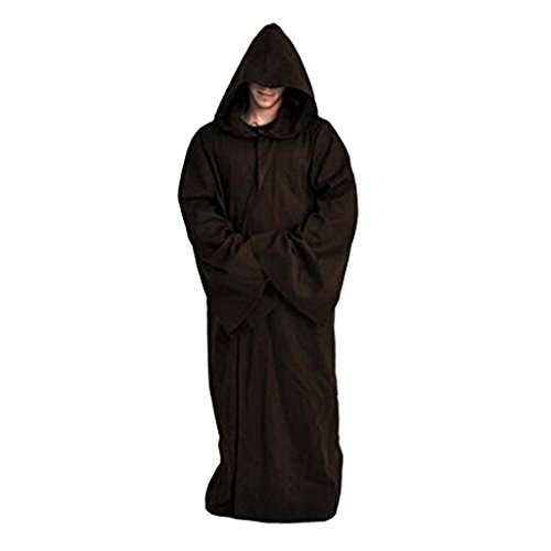 Daiendi Star Wars Kenobi Jedi Cosplay Tunic Hooded Robe Cloak Costume Adult EU Size
