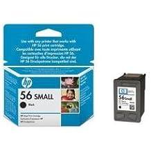 HP 56 - Cartucho de tinta Original HP 56 pequeño Negro para HP DeskJet 9680gp, 5550, 450cbi, 450ci; HP PSC 2175, 1210, 1216, 1315, 2210v, 2210xi, 1350, 2105, 2110,