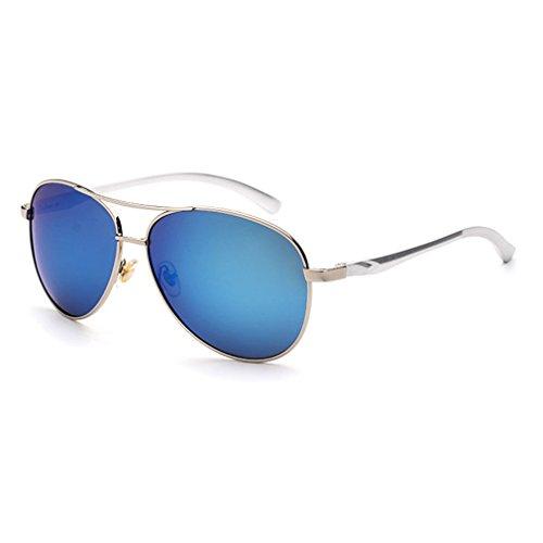 Sunbo - Lunettes de soleil - Homme White and Blue Mirror