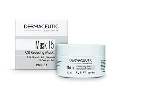 Dermaceutic Mask 15 - Talgregulierende Gesichtsmaske - Glykolsäure, Salicylsäure und Bentonit-Tonerde-Maske - Porentiefe Reinigung - 50 ml -