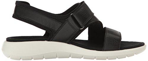 Ecco Soft 5 Sandal, Sandales Bout Ouvert Femme Noir (Black/black)
