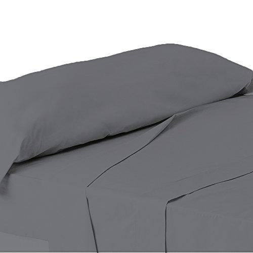 ForenTex - Juego de sábanas de 3 piezas, (X-4002), Gris, cama 150...