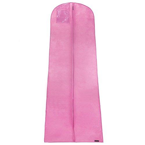 Atmungsaktiver Kleidersack für Hochzeitskleider - Pink - 183 cm - Hangerworld
